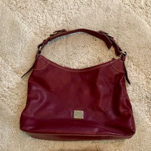 Dooney and Bourke Large Maroon Hobo Bag